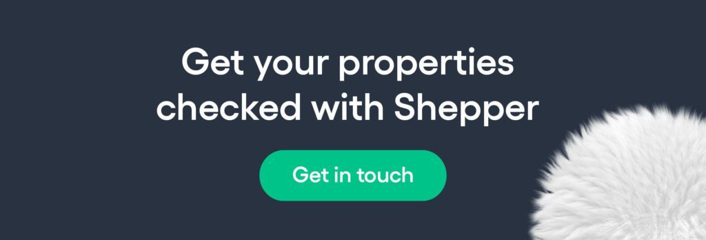 Get your short term rental properties checked with Shepper CTA button