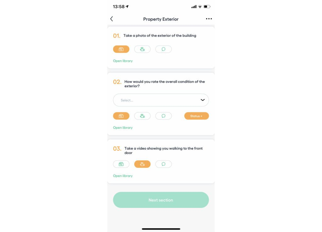 Shepper app orange mandatory tasks